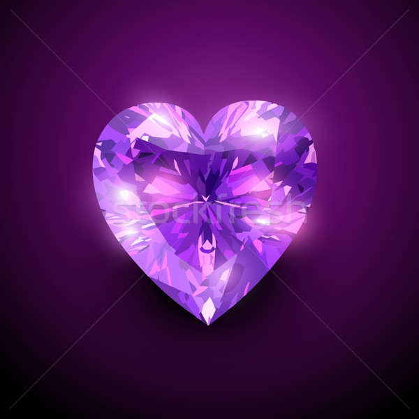 gloowing diamond heart Stock photo © Pinnacleanimates