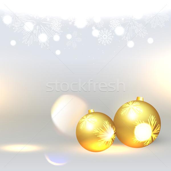 Altın Noel top parlak vektör dizayn Stok fotoğraf © Pinnacleanimates