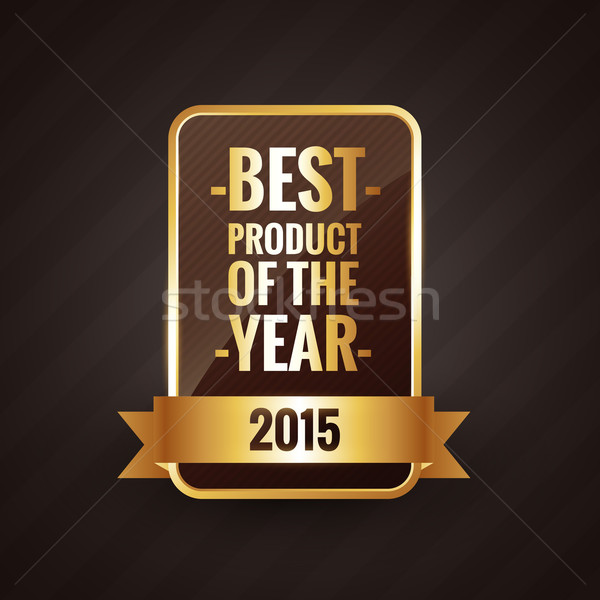 Stock fotó: Legjobb · termék · év · 2015 · arany · címke