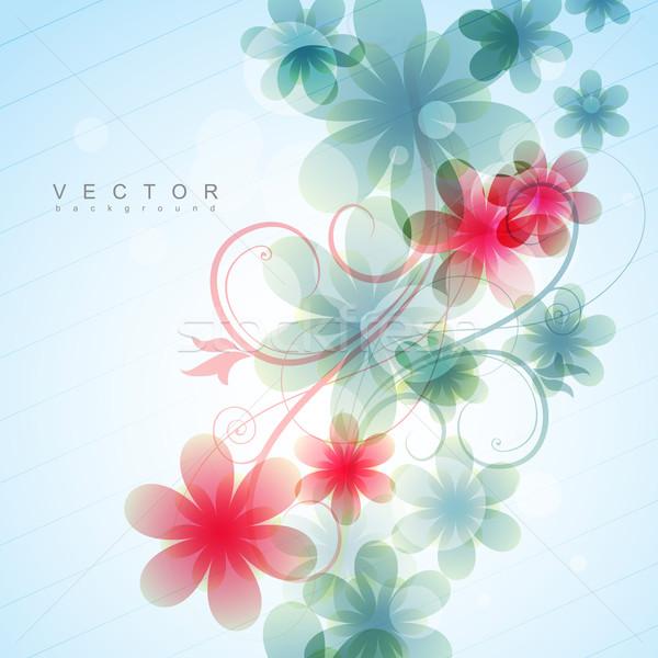 花 美しい ベクトル デザイン 抽象的な 芸術 ストックフォト © Pinnacleanimates
