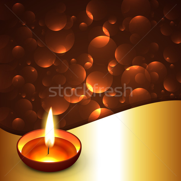 Shiny diwali diya background Stock photo © Pinnacleanimates