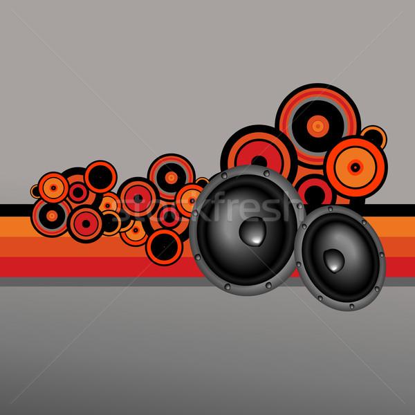 Retró stílus zene terv vektor absztrakt háttér Stock fotó © Pinnacleanimates