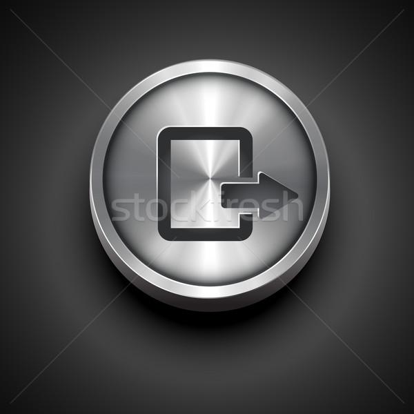 vector metallic icon Stock photo © Pinnacleanimates
