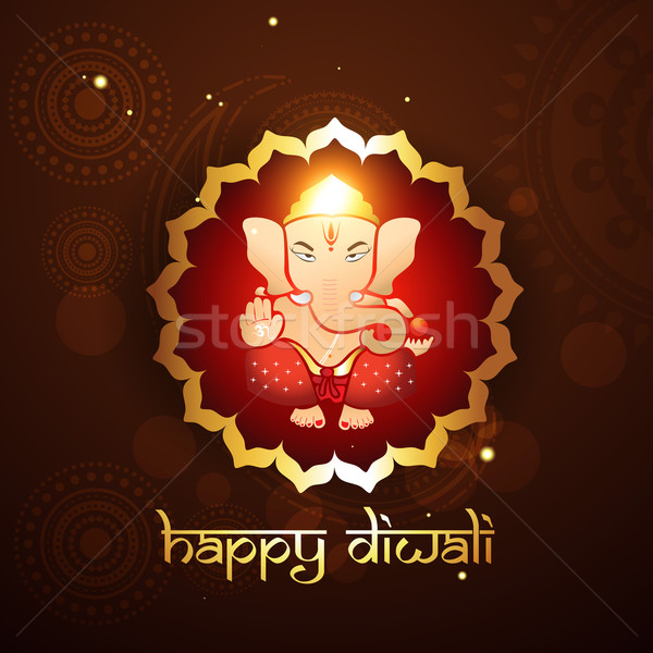 hindu lord ganesh illustraton Stock photo © Pinnacleanimates