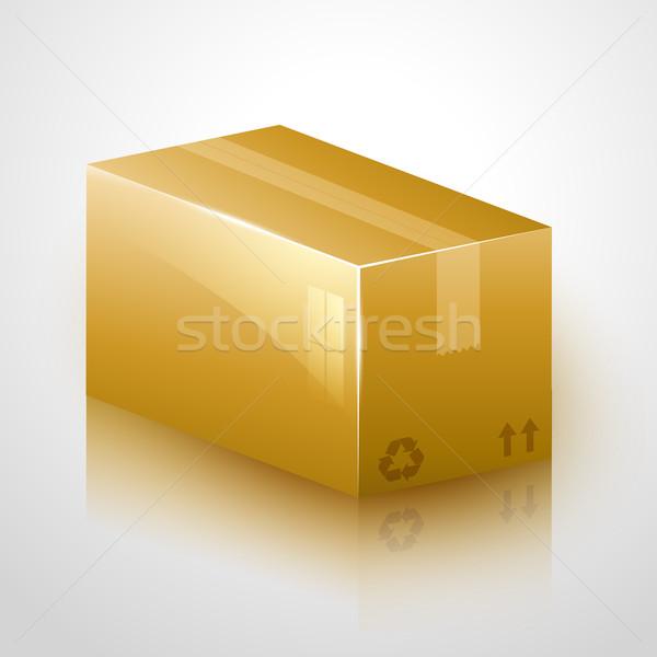 Kırılgan karton dizayn vektör ikon kutu Stok fotoğraf © Pinnacleanimates