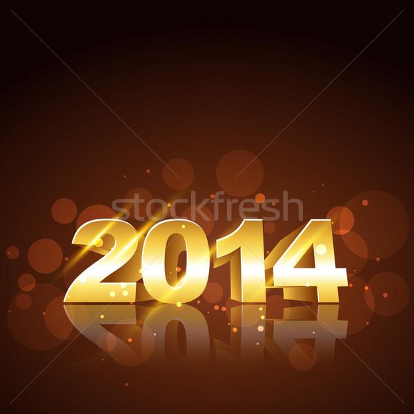 Año nuevo diseno feliz año nuevo dorado feliz resumen Foto stock © Pinnacleanimates
