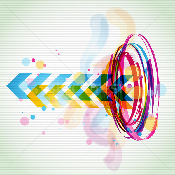 funky style colorful design Stock photo © Pinnacleanimates