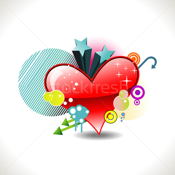 вектора Funky сердце дизайна Элементы весны Сток-фото © Pinnacleanimates