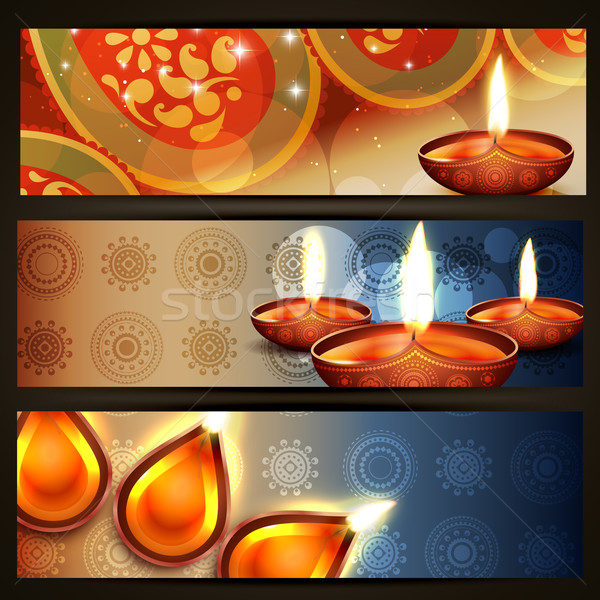 vector diwali headers Stock photo © Pinnacleanimates