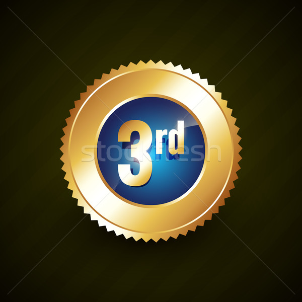 third number vector golden badge design Stock photo © Pinnacleanimates