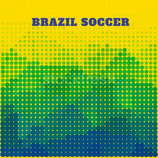 Brazília futball terv hullám kártya vidék Stock fotó © Pinnacleanimates