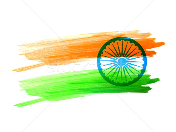 indian flag made with color strokes Stock photo © Pinnacleanimates