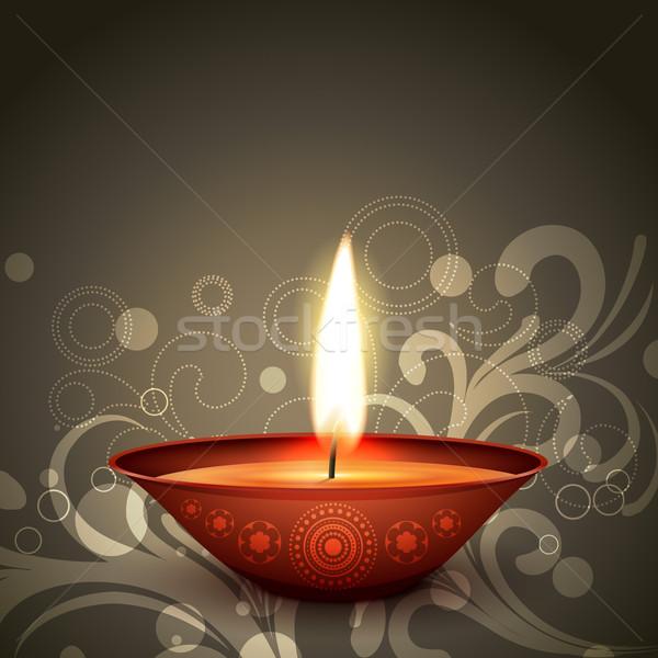 Indio festival diwali elegante feliz luz Foto stock © Pinnacleanimates