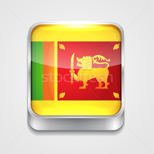 Bandiera Sri Lanka vettore 3D stile icona Foto d'archivio © Pinnacleanimates
