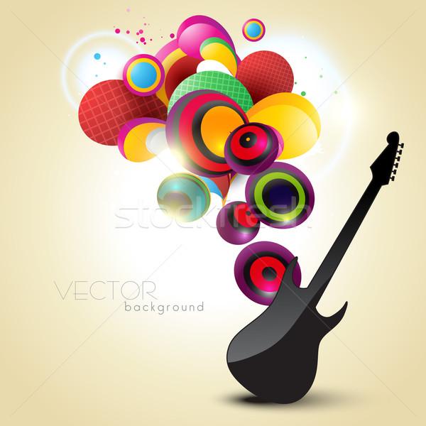 Artístico guitarra vector diseno ilustración música Foto stock © Pinnacleanimates