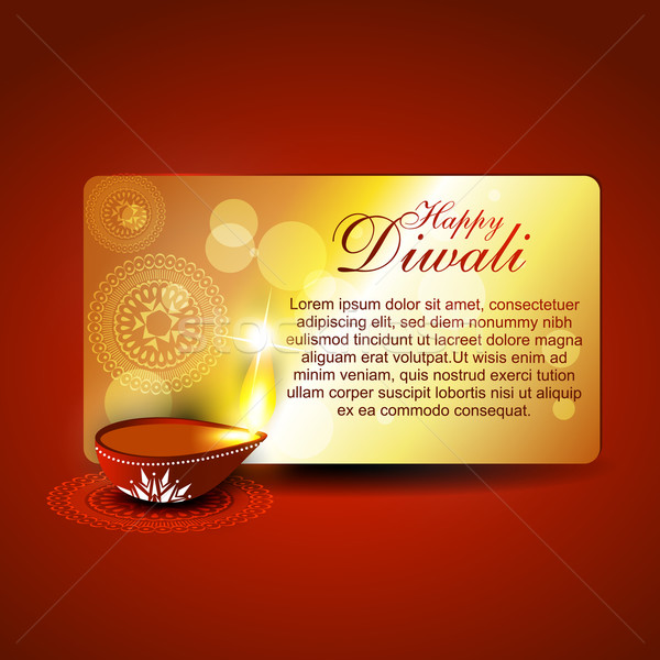stylish diwali illustration Stock photo © Pinnacleanimates