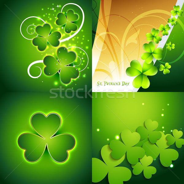 collection of st. patrick's day background Stock photo © Pinnacleanimates