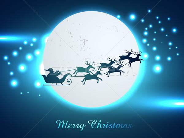 Natal papai noel vetor biga voador projeto Foto stock © Pinnacleanimates