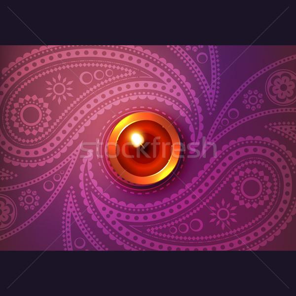Beautiful glowing diwali vector background Stock photo © Pinnacleanimates