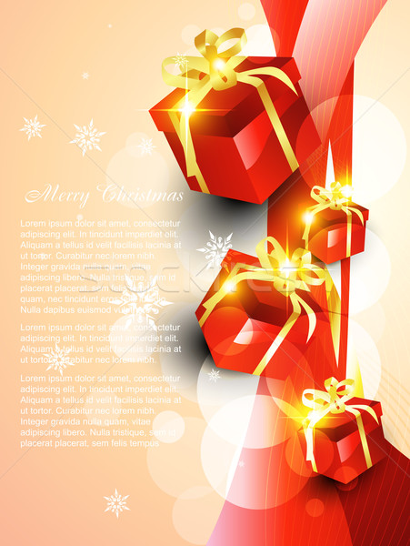vector giftbox Stock photo © Pinnacleanimates