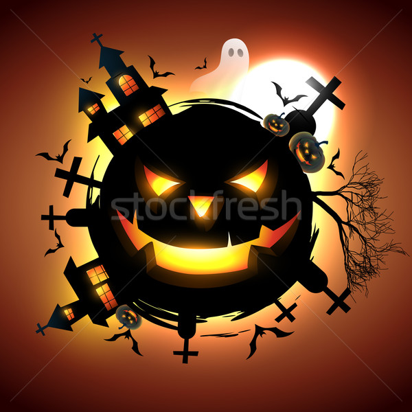 Vector halloween ontwerp illustratie huis abstract Stockfoto © Pinnacleanimates