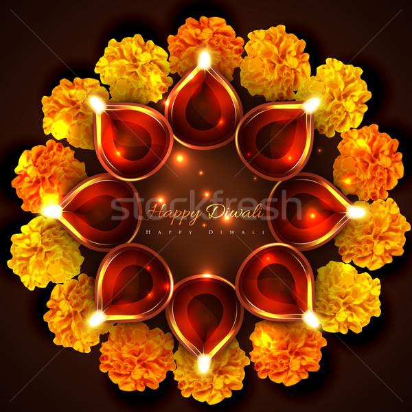Hindu festival background of diwali Stock photo © Pinnacleanimates
