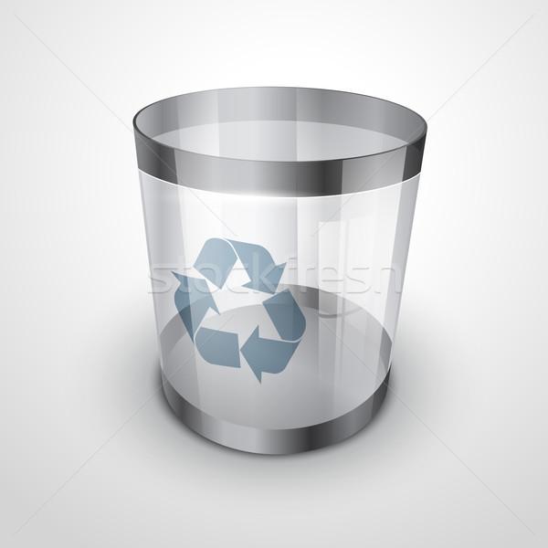 glass recycle bin Stock photo © Pinnacleanimates