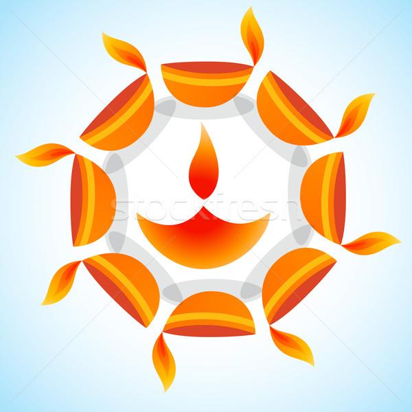 Elegante diwali vector feliz fondo lámpara Foto stock © Pinnacleanimates