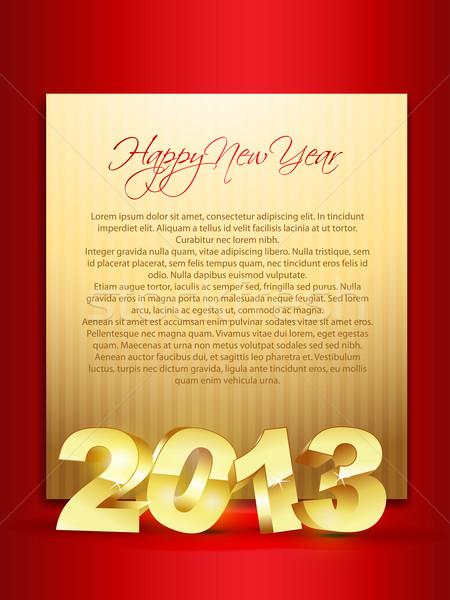 shiny golden happy new year Stock photo © Pinnacleanimates