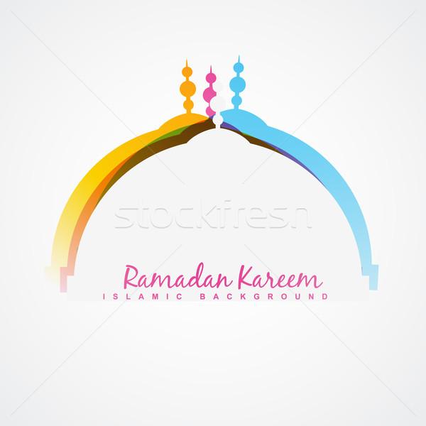Ramadán fesztivál terv vektor absztrakt háttér Stock fotó © Pinnacleanimates
