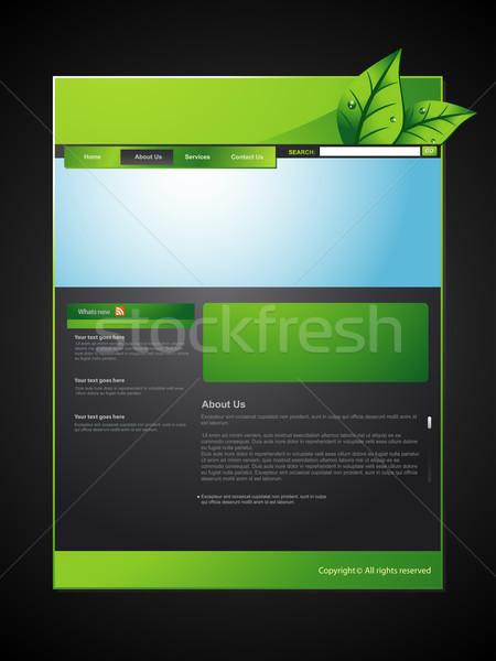 eco web layout Stock photo © Pinnacleanimates