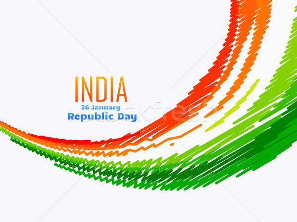 indian flag design in wave style Stock photo © Pinnacleanimates