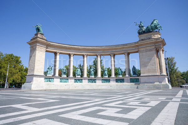 Stock photo: Millenium monument in Budapest