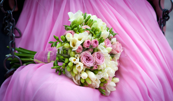 Bride holding a wedding bouquet  Stock photo © pixachi