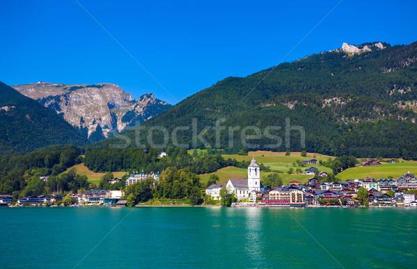 View of St. Wolfgang chapel Stock photo © pixachi