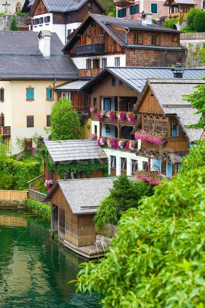 Ospite case view frazione lago shore Foto d'archivio © pixachi