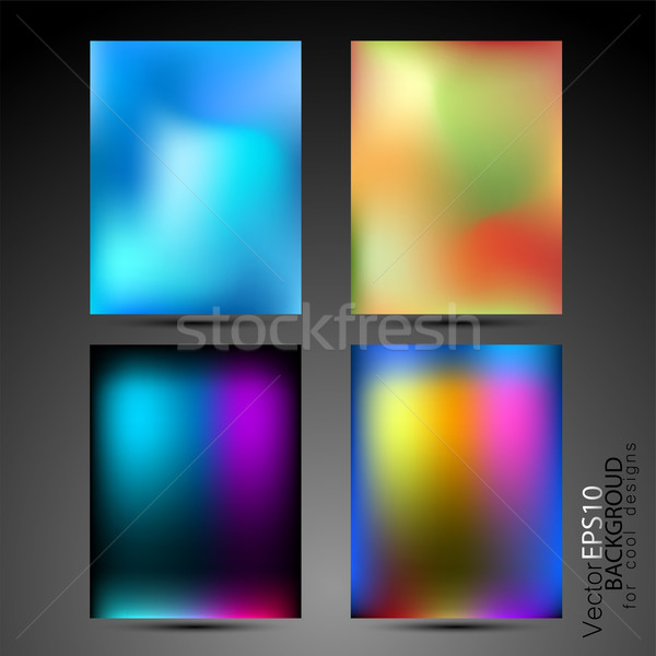 High tech abstract backgrounds collection Stock photo © pixachi