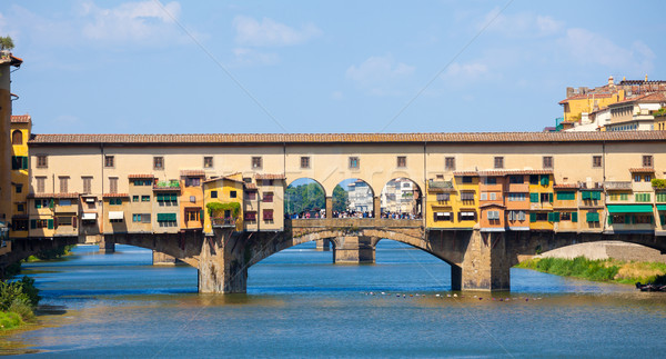 Ponte Vecchio view over Arno  river in Florence Stock photo © pixachi