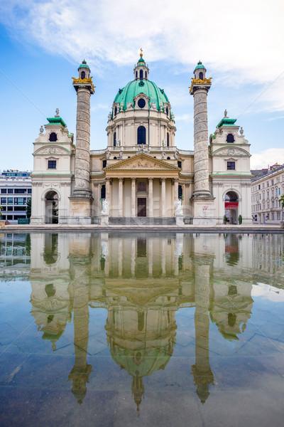 église Vienne bâtiment religion touristiques colonne Photo stock © pixachi