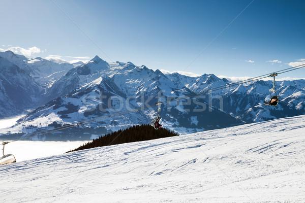 кабеля автомобилей лыжных курорта Сток-фото © pixachi