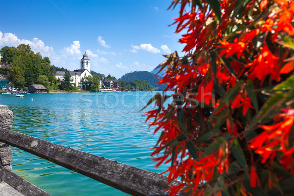 Stock photo: View of St. Wolfgang waterfront