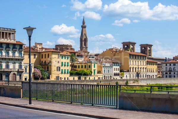Florence városkép bazilika torony fotó Olaszország Stock fotó © pixachi
