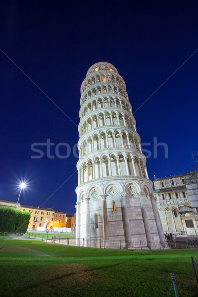 Stock photo: Pisa leaning tower at dawn