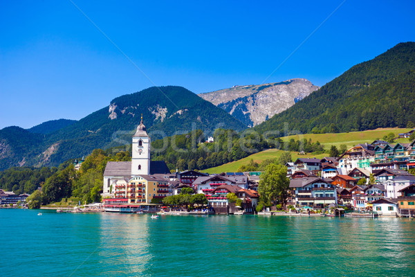 View of St. Wolfgang chapel Stock photo © pixachi