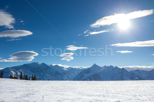 winter with ski slopes of kaprun resort Stock photo © pixachi