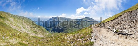Panoramic view of Mount Bucegi on summer Stock photo © pixachi