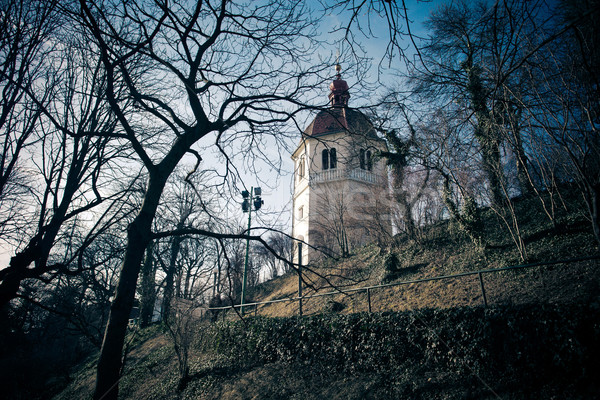 View of Glockenturm tower on Schlossberg hill, Graz Stock photo © pixachi