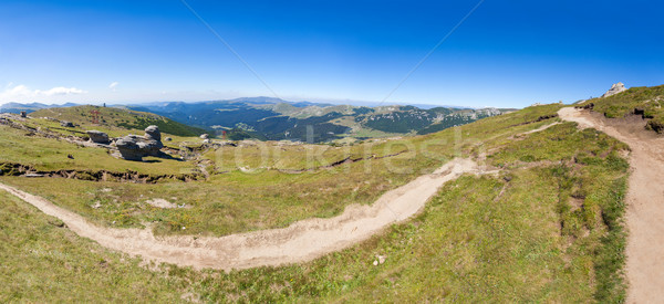 Stock photo: Panoramic view of Mount Bucegi on summer