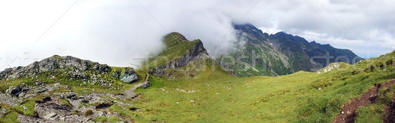 Stock photo: Panoramic view of Fagaras Mountain on summer