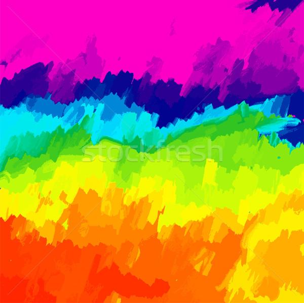 Öl gemalt Leinwand lebendig Farben Wasser Stock foto © pixachi